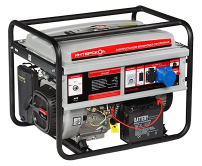 Бензиновый генератор ЭБ-6500 Интерскол