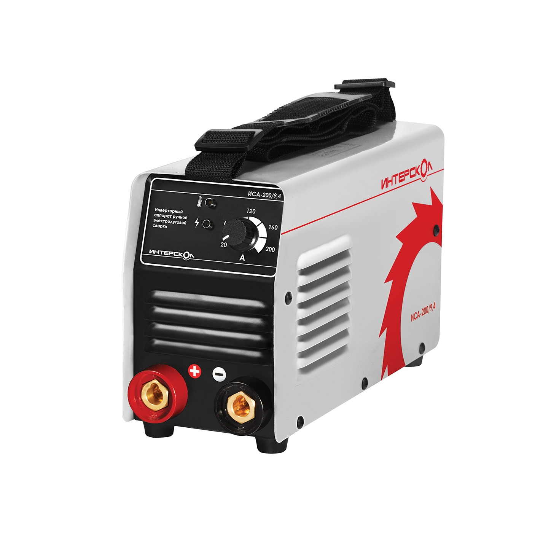Инверторный аппарат ручной электродуговой сварки ММА ИСА-200/9,4 Интерскол