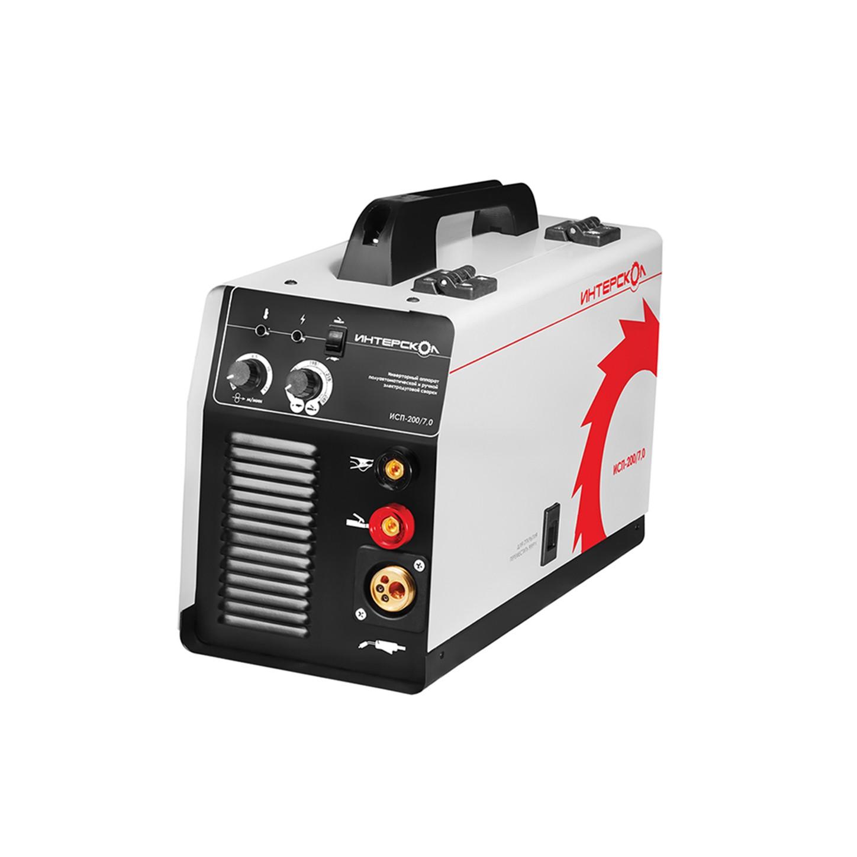 Инверторный аппарат полуавтоматической сварки Mig-Mag и ручной электродуговой сварки ММА ИСП-200/7,0 Интерскол